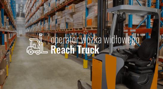 Operator wózka widłowego Reach Truck