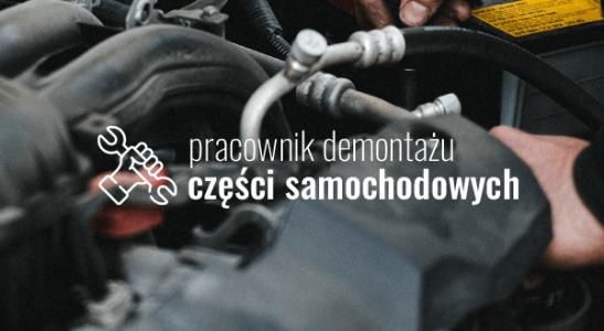 Pracownik demontażu części samochodowych