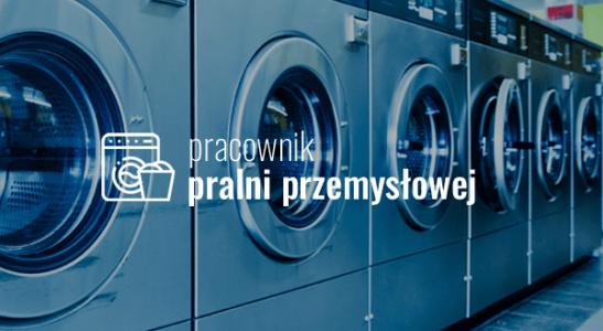 Pracownik pralni przemysłowej